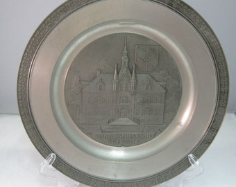 Zinn Pewter Plate Towwn Hall Rothenbach Germany