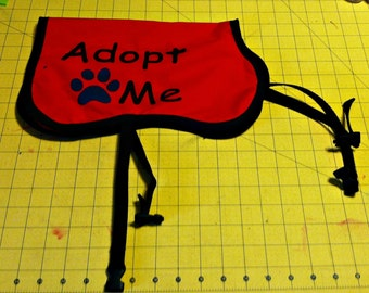 Adoption Dog Vest Buckle Style Handmade