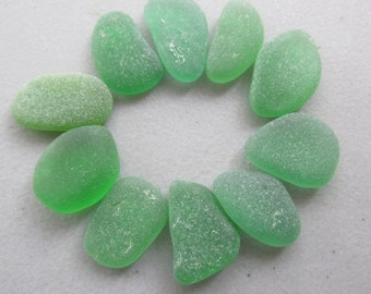 Quality Green Seaglass, Beach Glass Jewelry Supply, Genuine Sea Glass Jewelry Making