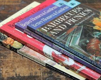 Vintage Better Homes & Gardens Cookbooks bundle of hardcover vintage cookbooks 1950's 1960's Holiday Picnics Buffets Dessert BBQ cookbooks