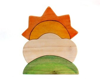 wooden stacking toy, wood puzzle, wooden toys, toddler toy, wooden waldorf
