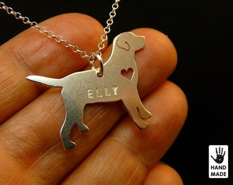 Labrador Handmade Personalized Sterling Silver .925 Necklace in a gift box