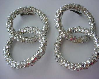 Vintage Extraordinary Rhinestone Earrings