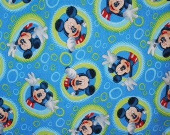 "Boys Blue Mickey Mouse Fleece Blanket.  Measures 40 X 57  ""Ready to Ship""."