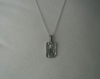 Vintage Sterling Nugget Pendant Necklace