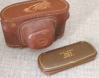 Leather Camera Case , Vintage Cases , Kodak Camera Case , Eyeglass Case , Protective Case , Optical Case , Eyeglass Holder , Glasses Case