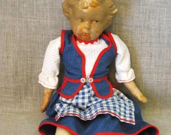 Antique Composite Doll, Cloth Dolls, Female Toy, Antique Toy Doll, Clothes, Girls Toys, Female Dolls , Antiques