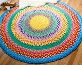 reserved for ariana z megs rainbow braided cotton rug