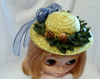 Hat Blue Ribbon Special for Blythe Pullip Fashion Dolls