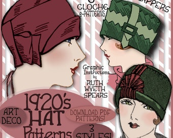 SEW 3 Vintage 1920s FLAPPER CLOCHE Hat vintage e-Patterns (Lillie Set) pdf