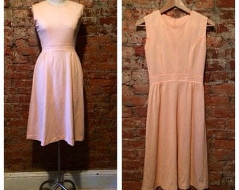 60s fitted tea length dress