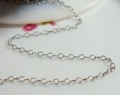 Lightly Oxidized Sterling Silver Cable Chain, 10 ft , 1.2x1.8mm