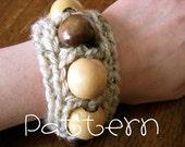 PATTERN- PDF- Chunky Beaded Wrist Cuff- Crochet