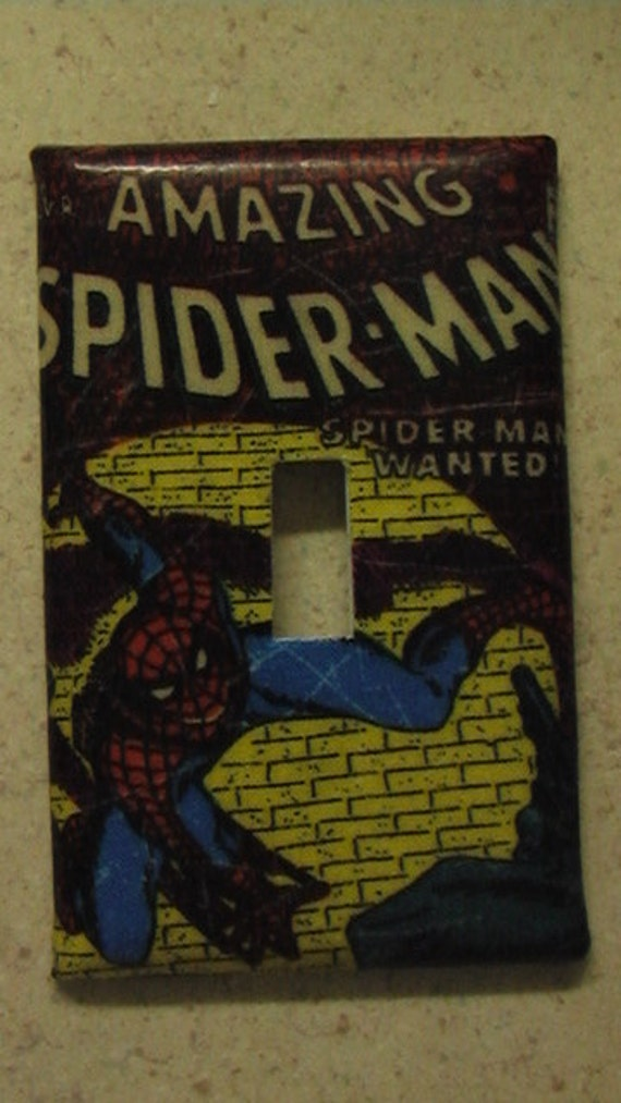 Spiderman Single Toggle Light Switch Plate Cover