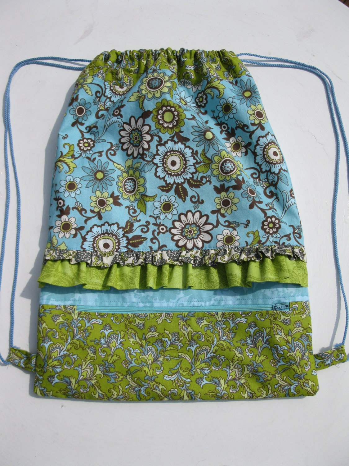 Knitting Pattern For A String Bag : Drawstring Backpack Sewing Pattern PDF Small by KathieSewHappy