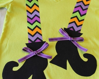 SALE- Ready to ship- Iron On or Sew On WITCH SHOES Applique - Child/Adult - long stockings with ribbon