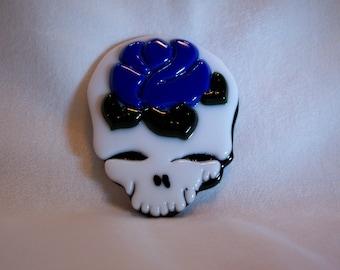Skull, Glass Skull, Mosaic Supplies, Rose and Skull