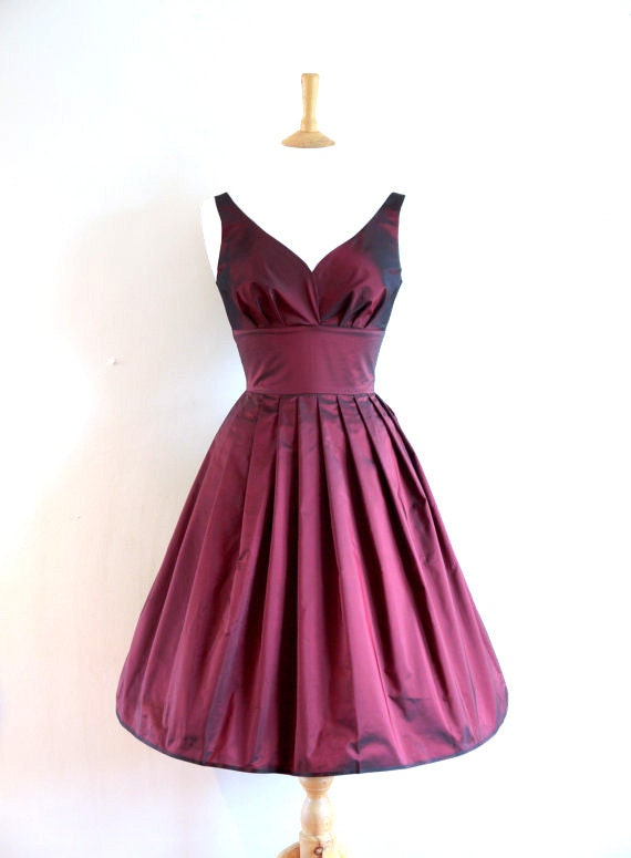 Taffeta Sweetheart Prom Dress - Made by Dig For Victory