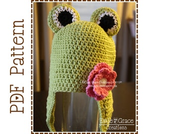 Frog Hat Crochet Pattern, 8 Sizes from Newborn to Adult, FROGGY - pdf 121