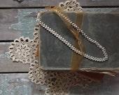 Vintage Napier Silvertone Modern Heart Chain Necklace. Costume Jewelry. Rustic Romance. Bohemian Chic