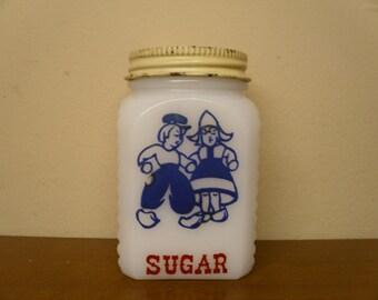 Vintage Milk Glass Sugar Shaker