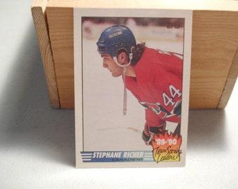 Stephane Richer, Hockey Card, Topps Card, Vintage, Sports Card, NHL, Canadians ,Hockey  Season Leader, Scoring Leader