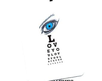 Love.Lovers. Eye Love You.Eye Chart Card.Card.Valentines Day Card.Paper Goods.Eye Exam.Site.Vision.Optometrist.Custom. by Yvonne4eyes