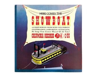 "Alex Steinweiss record album design, 1974. ""Here Comes the Showboat"" LP"