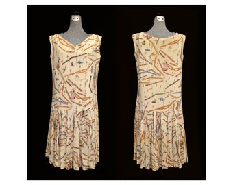 Vintage late 50s early 60s PUCCI Dress RARE Collectible Sports and Mermaid Print
