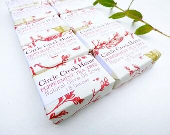 Peppermint Tea Tree 10 Mini Bar Collection Handmade Soap - FREE Shipping