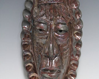 African Raku Mask number 16