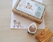 Trojan Horse and Warriors - Boxed Greece Inspired Stamp and Ink Pad