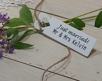 Just Married! Olive Wood Custom Stamp