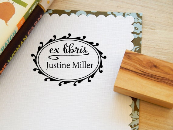 Custom Curly Frame Message Stamp