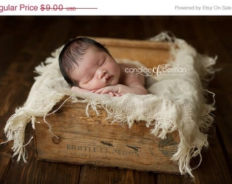 Burlap Layering Blanket Photography Prop Newborn Baby Photo Prop Mini Burlap Blanket