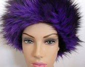 Faux Fur Hat, Purple hat ,Winter Hat, Ski Hat, Snowboarding Hat, Fuzzy. Warm. WInte