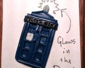 TARDIS button- Rainy Day Buttons