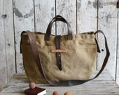 Waxed Canvas Tote: Tumbleweed by Peg and Awl