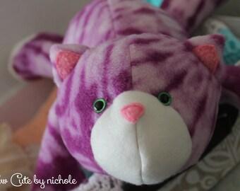 Purple Plush Cat