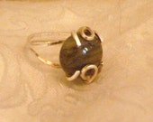 Labradorite Sterling Silver Wire Wrapped Ring