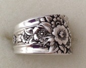 Spoon Ring, Jubilee 1953, Size 5 to 15 Choose Your Size, Vintage Silverplate Ring, Vintage Ring, Floral Ring, Silverware Jewelry