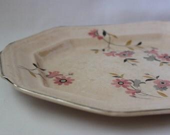 Shabby Chic Pink Platter