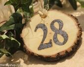 Table Number Tokens Mason Jar Rustic Wedding Table Seating Display