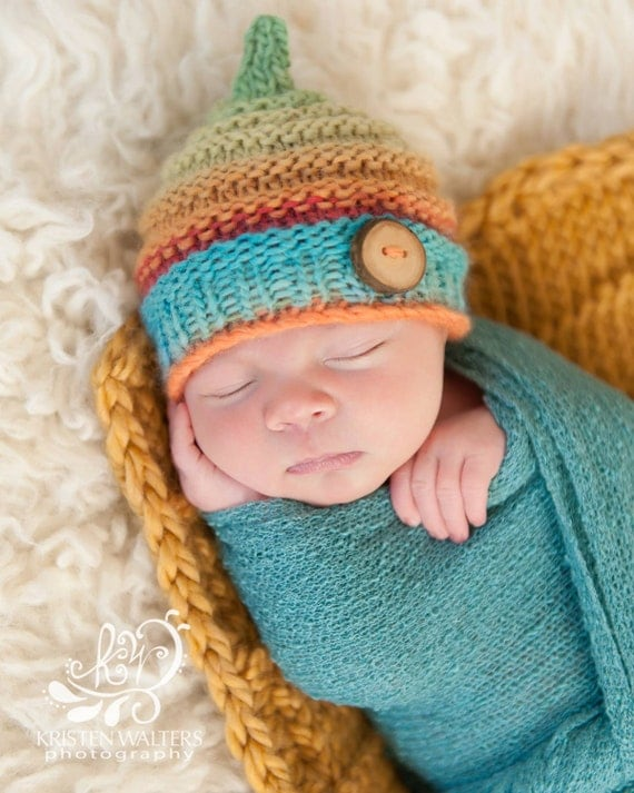 Toddler Beanie Knitting Pattern : Baby Beanie Knitting Hat Pattern Size Newborn PDF Sale