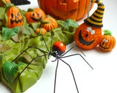 One Small Handmade Orange and Black Spider Pet Spider for Teens Gift for Bug Lovers Garden Pet Home Decor Unique Ornament Special Occasion