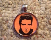 Pop Culture Icon Elvis Image Pendant Necklace-FREE SHIPPING-