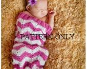 CHEVRON baby COCOON - sleep sack - photoprop - PATTERN Only