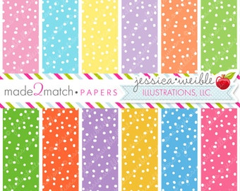 Cute Crazy Dot Easter Digital Papers - Commercial Use OK - Digital Papers, Dotted Digital Backgrounds, Easter Backgrounds