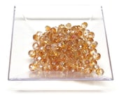 4x6mm Amber AB Faceted Crystal Rondelle Beads,4x6mm crystal,6mm crystal rondelle,4x6mm glass crystal,6mm Amber AB crystal