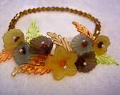 Autumn Colors Wrist Corsage Bracelet Free US Shipping